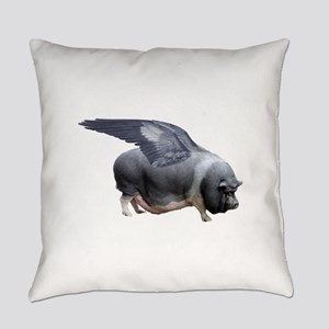 flying pig Everyday Pillow