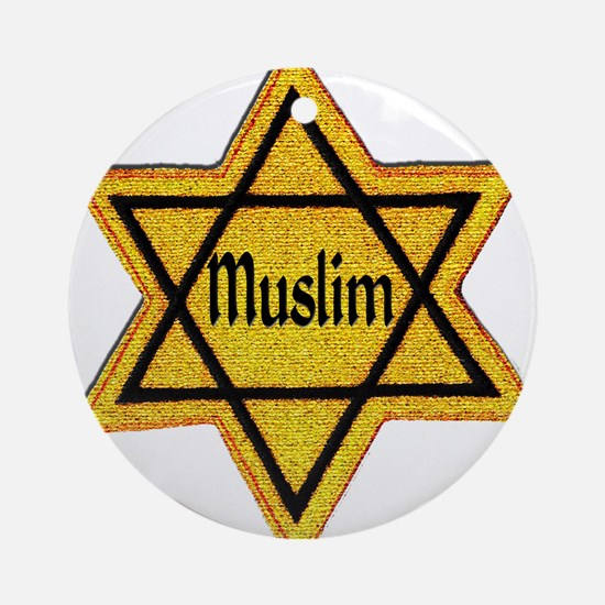 Cute Muslim Round Ornament