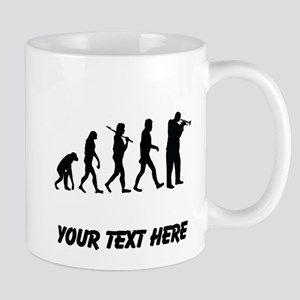 Trumpet Player Evolution (Custom) Mugs