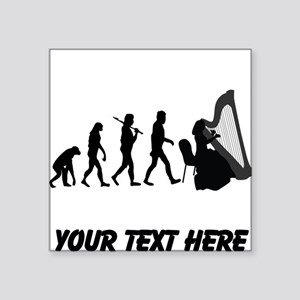 Harp Player Evolution (Custom) Sticker