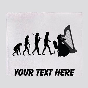 Harp Player Evolution (Custom) Throw Blanket