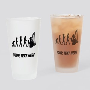 Harp Player Evolution (Custom) Drinking Glass