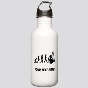 Harp Player Evolution (Custom) Water Bottle