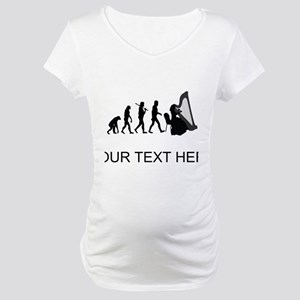Harp Player Evolution (Custom) Maternity T-Shirt