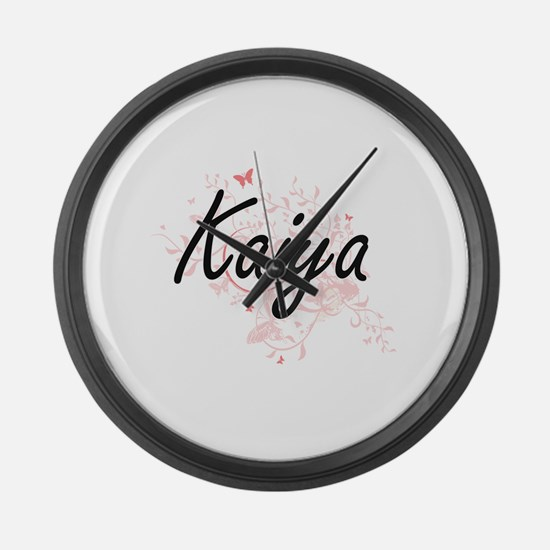 Kaiya Artistic Name Design with B Large Wall Clock
