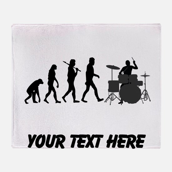 Drummer Evolution (Custom) Throw Blanket