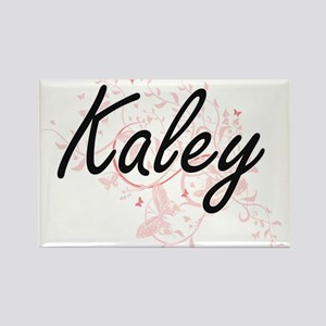 Kaley Artistic Name Design with Butterflie Magnets
