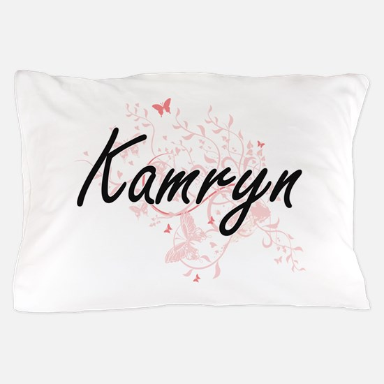 Kamryn Artistic Name Design with Butte Pillow Case