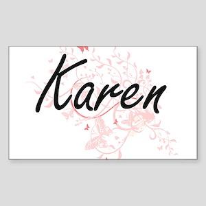Karen Artistic Name Design with Butterflie Sticker