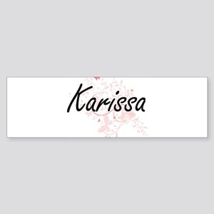 Karissa Artistic Name Design with B Bumper Sticker