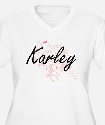 Karley Artistic Name Design with Plus Size T-Shirt