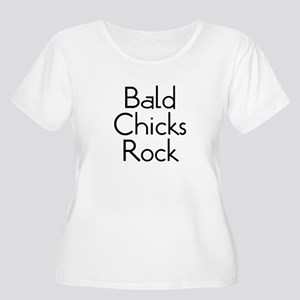 Bald Chicks Rock Women's Plus Size Scoop Neck T-Sh