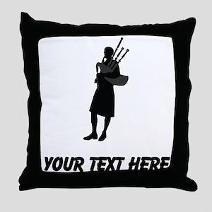 Bagpipe Player (Custom) Throw Pillow