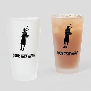 Bagpipe Player (Custom) Drinking Glass