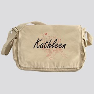 Kathleen Artistic Name Design with B Messenger Bag