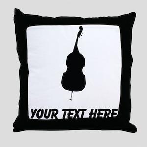 Standing Bass (Custom) Throw Pillow