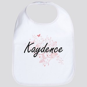 Kaydence Artistic Name Design with Butterflies Bib