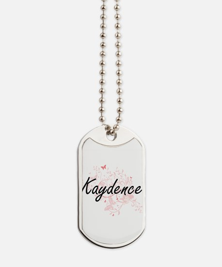 Kaydence Artistic Name Design with Butter Dog Tags