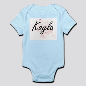 Kayla Artistic Name Design with Butterfl Body Suit