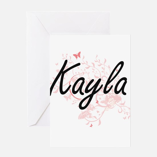 Kayla Artistic Name Design with But Greeting Cards