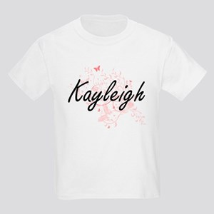 Kayleigh Artistic Name Design with Butterf T-Shirt