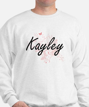 Kayley Artistic Name Design with Butter Sweatshirt