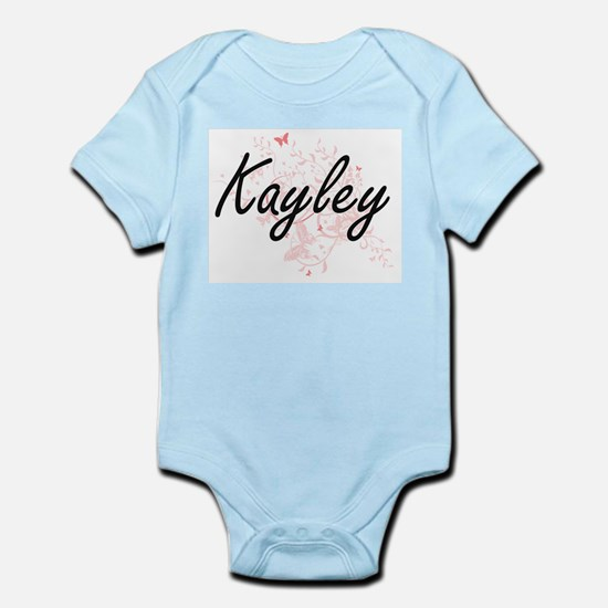 Kayley Artistic Name Design with Butterf Body Suit
