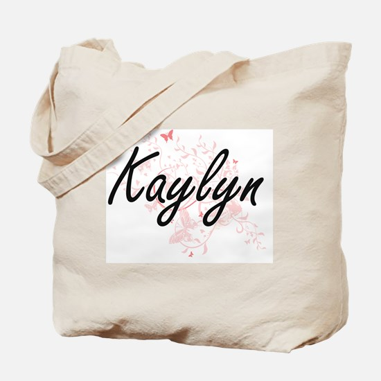 Kaylyn Artistic Name Design with Butterfl Tote Bag