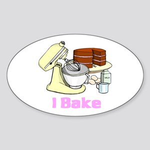 I Bake Oval Sticker
