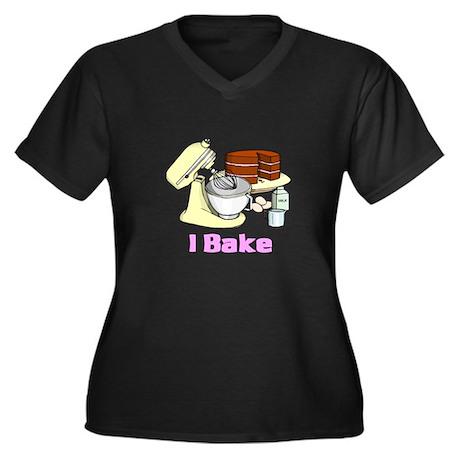 I Bake Women's Plus Size V-Neck Dark T-Shirt