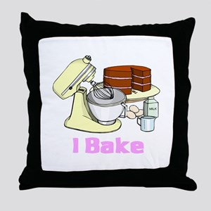 I Bake Throw Pillow