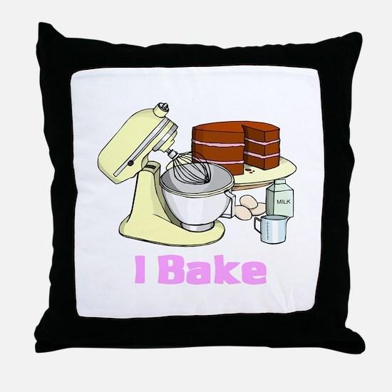 I Bake Throw Pillow