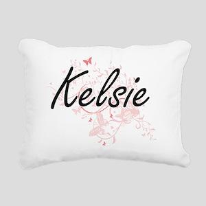 Kelsie Artistic Name Des Rectangular Canvas Pillow