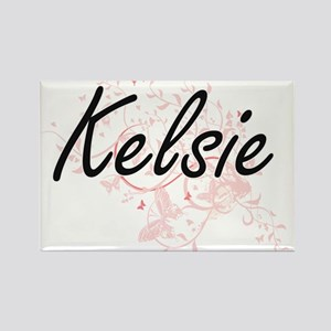 Kelsie Artistic Name Design with Butterfli Magnets