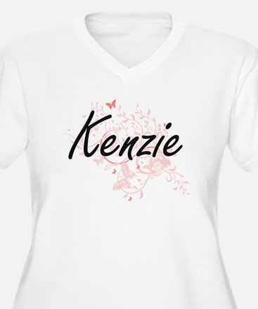 Kenzie Artistic Name Design with Plus Size T-Shirt