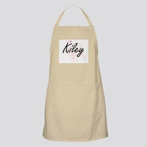 Kiley Artistic Name Design with Butterflies Apron