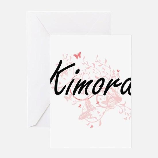 Kimora Artistic Name Design with Bu Greeting Cards