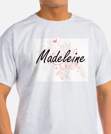 Madeleine Artistic Name Design with Butter T-Shirt