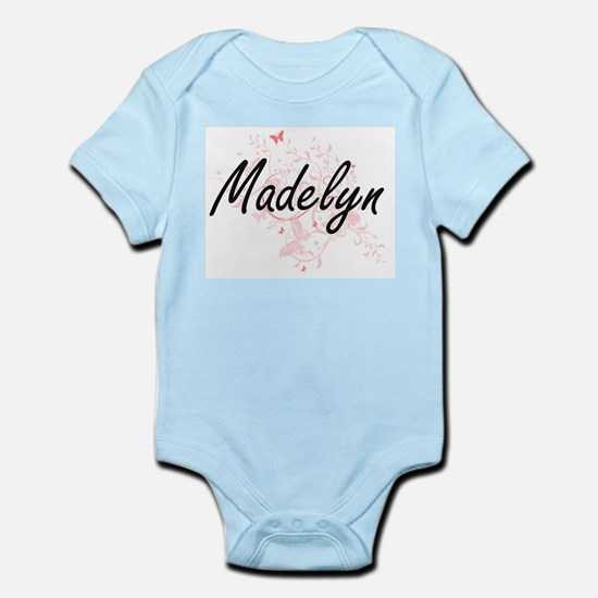 Madelyn Artistic Name Design with Butter Body Suit