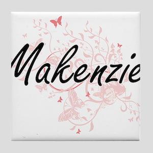 Makenzie Artistic Name Design with Bu Tile Coaster