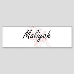 Maliyah Artistic Name Design with B Bumper Sticker