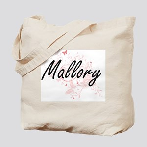 Mallory Artistic Name Design with Butterf Tote Bag