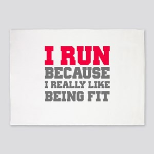 I run because i really like being fit 5'x7'Area Ru