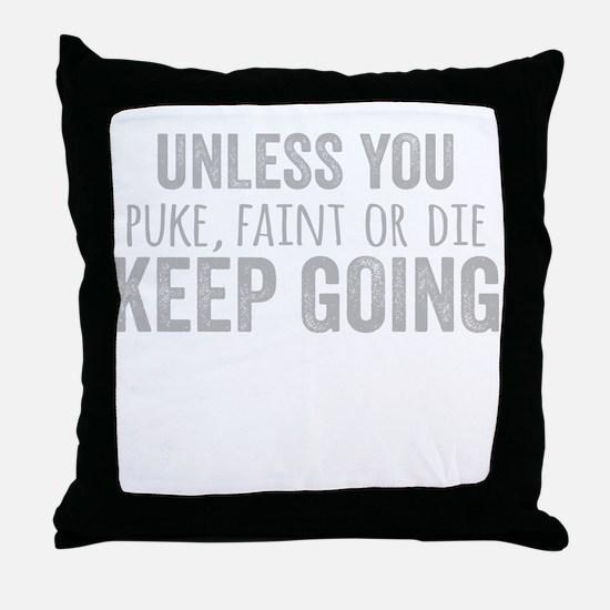 Cute Burpees Throw Pillow