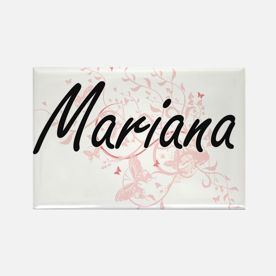 Mariana Artistic Name Design with Butterfl Magnets