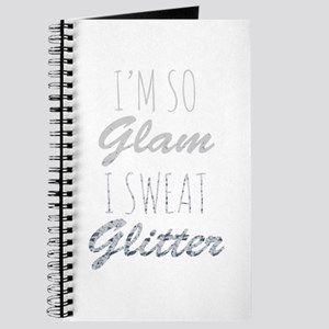 I'm So Glam I Sweat Glitter Journal