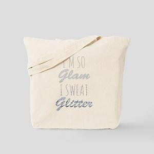 I'm So Glam I Sweat Glitter Tote Bag