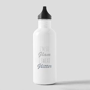 I'm So Glam I Sweat Glitter Sports Water Bottle