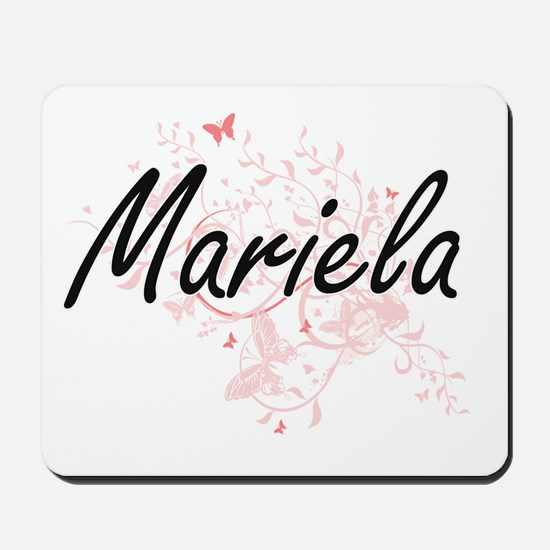 Mariela Artistic Name Design with Butter Mousepad
