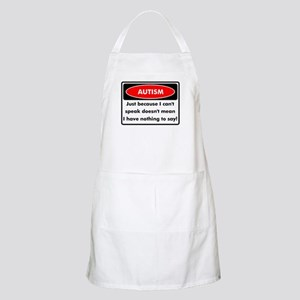 Autism Warning BBQ Apron